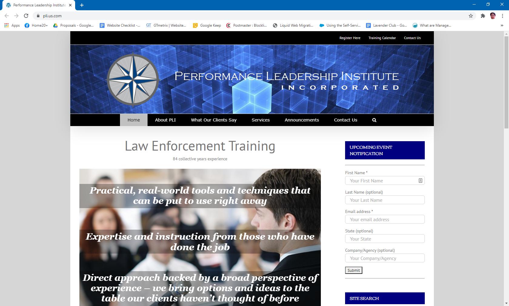Performance Leadership Institute, Inc.