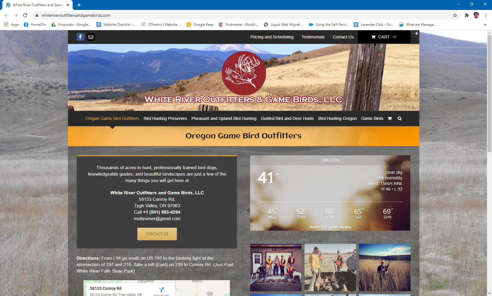 White River Outfitters and Game Birds, LLC