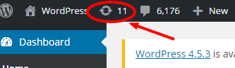 WordPress update icon